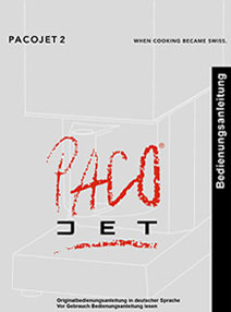 PacoJet PJ2 User Instruction Manual