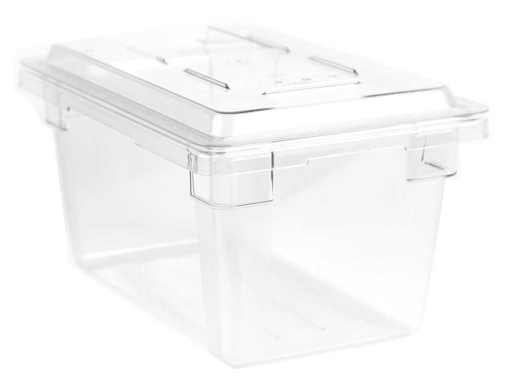 Cambro Clear Plastic Container 17 gallon with Lid